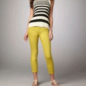 Vince 26 Crop Skinny Ankle Jeans Chartreuse 3628